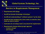barriers to requirements management