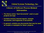 library of software process related information