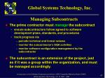 managing subcontracts