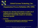 organization process definition pd opd