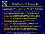 organization process focus pf opf activities