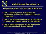 organization process focus pf opf goals