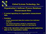 organization s software process database measurement data