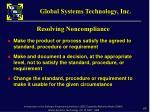 resolving noncompliance