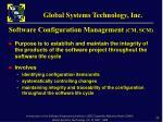 software configuration management cm scm