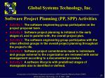 software project planning pp spp activities