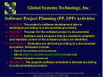 software project planning pp spp activities1