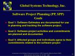 software project planning pp spp goals