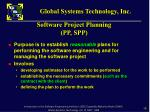 software project planning pp spp