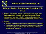 software project tracking and oversight pt pto1