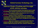 software project tracking and oversight pto spto activities