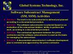 software subcontract management sm ssm activities