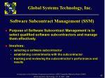 software subcontract management ssm1