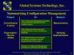 summarizing configuration management