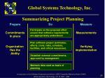 summarizing project planning