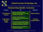 summarizing quality assurance
