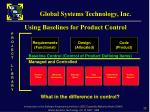 using baselines for product control1