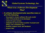 what is in a software development plan