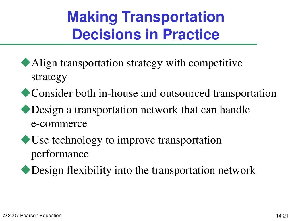 PPT - Chapter 13 Transportation in the Supply Chain