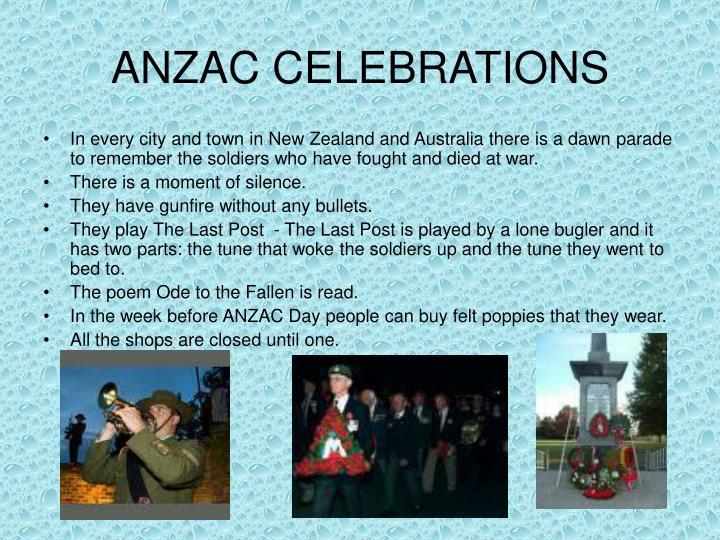 ANZAC CELEBRATIONS