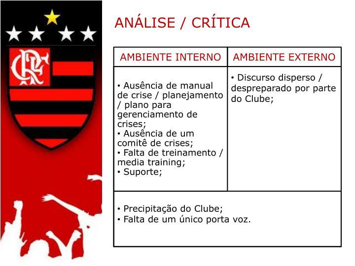 ANÁLISE / CRÍTICA