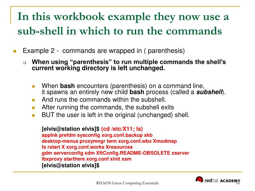 PPT - RHA030 Linux Computing Essentials PowerPoint