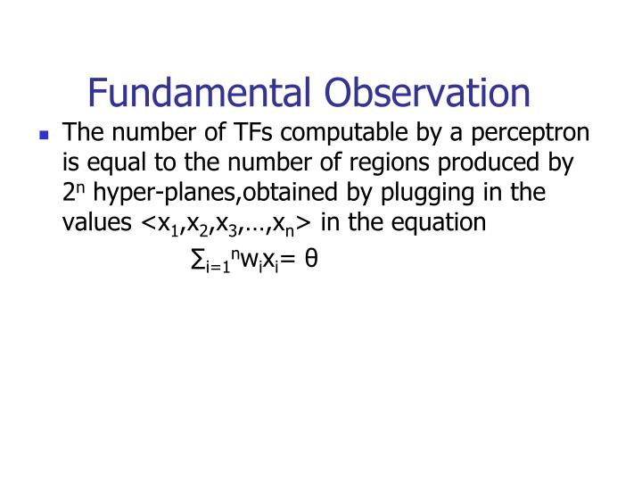 Fundamental Observation