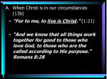when christ is in our circumstances 13b