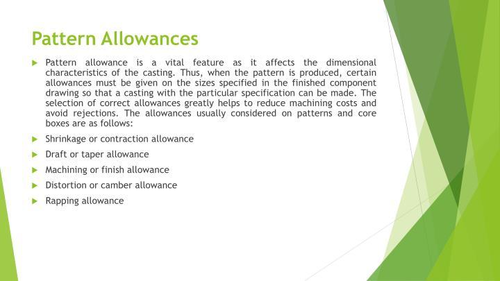 Pattern Allowances
