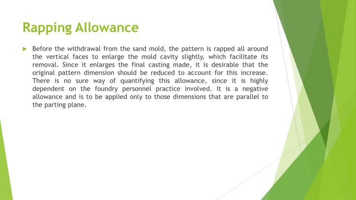 Rapping Allowance