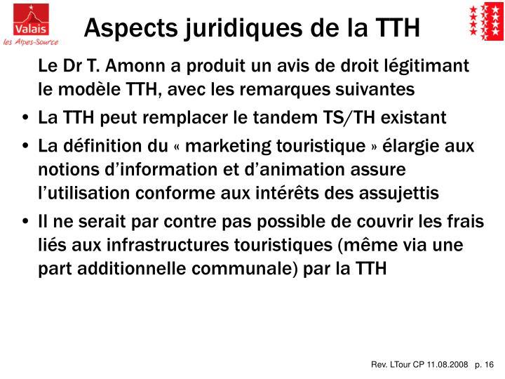 Aspects juridiques de la TTH
