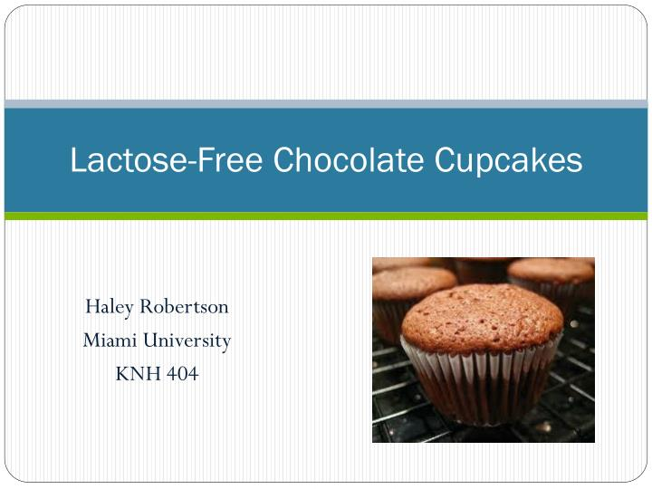 lactose free chocolate cupcakes n.