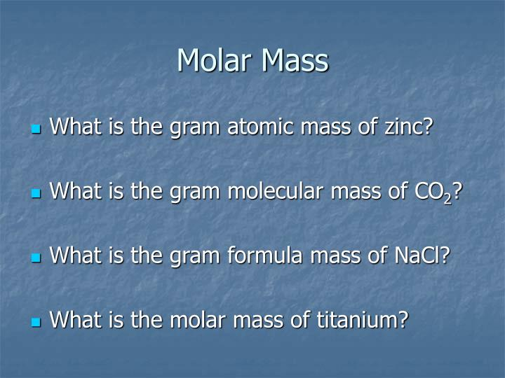 molar mass of air 2018-2-5  the molar mass of oxygen is the mass of one mole of oxygen oxygen forms a divalent molecule, so this is the mass of one mole of o 2 when you look up the atomic weight of oxygen, you find it is 1600 g therefore, the molar mass of oxygen is: 2 x 1600 g = 3200 g molar mass.