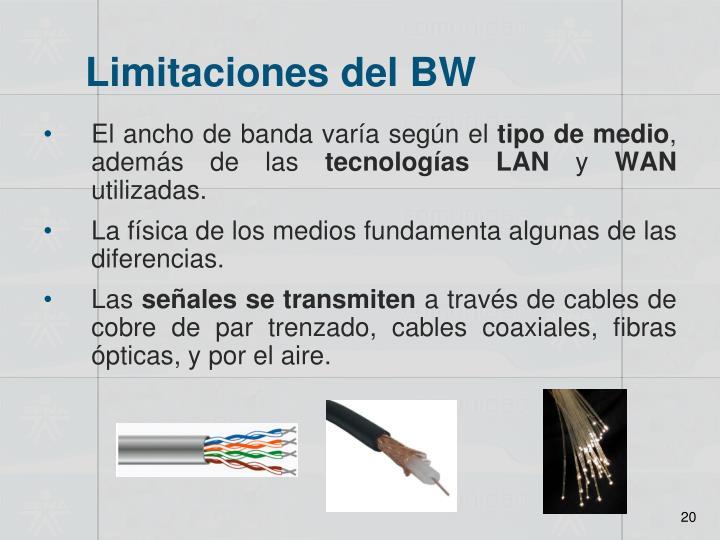 Limitaciones del BW