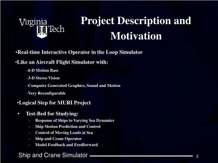Project description and motivation