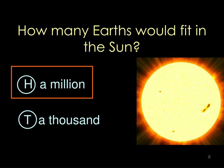 How many Earths would fit in the Sun?