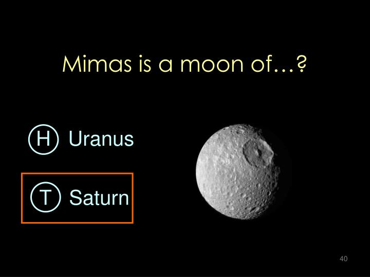 Mimas is a moon of…?