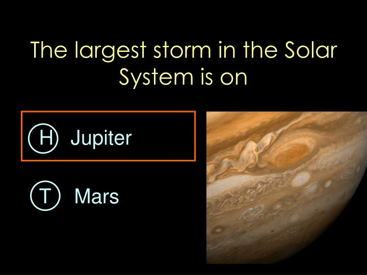 The largest storm in the Solar System is on