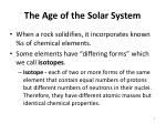 the age of the solar system1