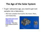 the age of the solar system5