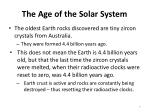 the age of the solar system6