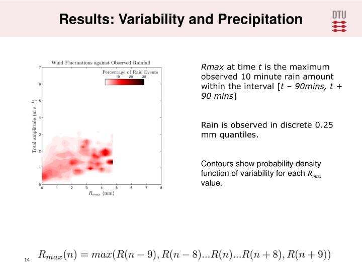 Results: Variability and Precipitation