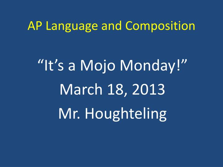 ap language and composition n.