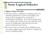 some logical fallacies5