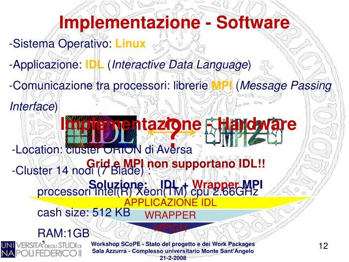Implementazione - Software