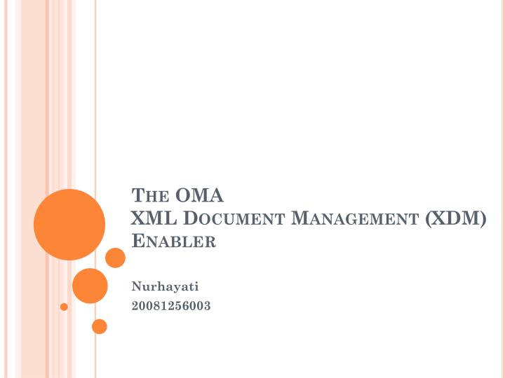 the oma xml document management xdm enabler n.