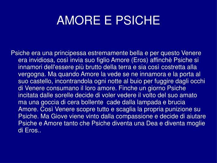 AMORE E PSICHE