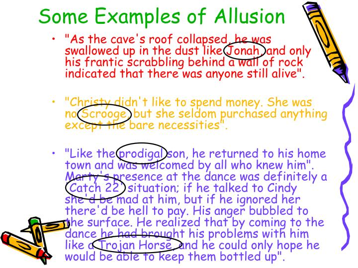 Some Examples of Allusion
