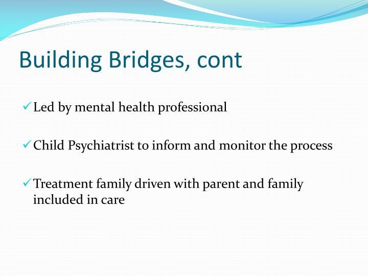Building Bridges, cont