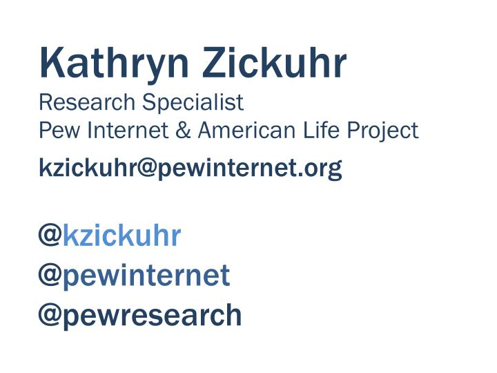 Kathryn Zickuhr
